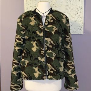 Sanctuary Camo Sherpa jacket